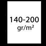 140-200 gramm papier