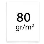 80 gramm papier