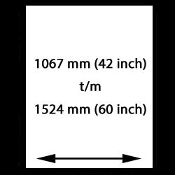 1067mm (42 inch) bis 1524mm (60 inch) selbstklebend