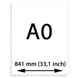 A0 papier (841mm, 33,1 inch)