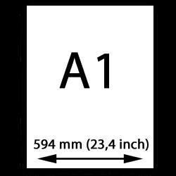 A1 papier (594mm, 23,4 inch)