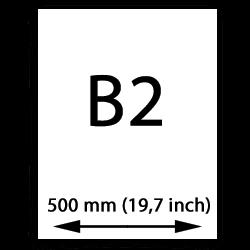 B2 papier (500mm, 19,7 inch)